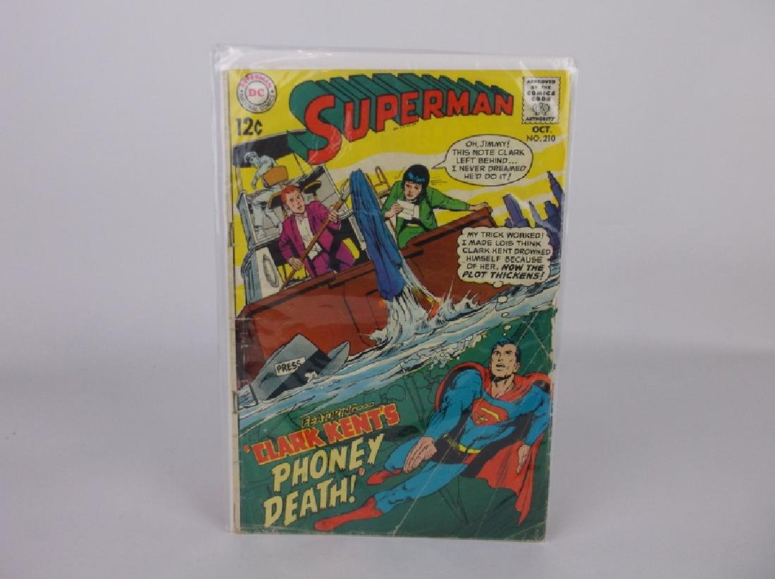 1968 DC Superman Comic Book #210