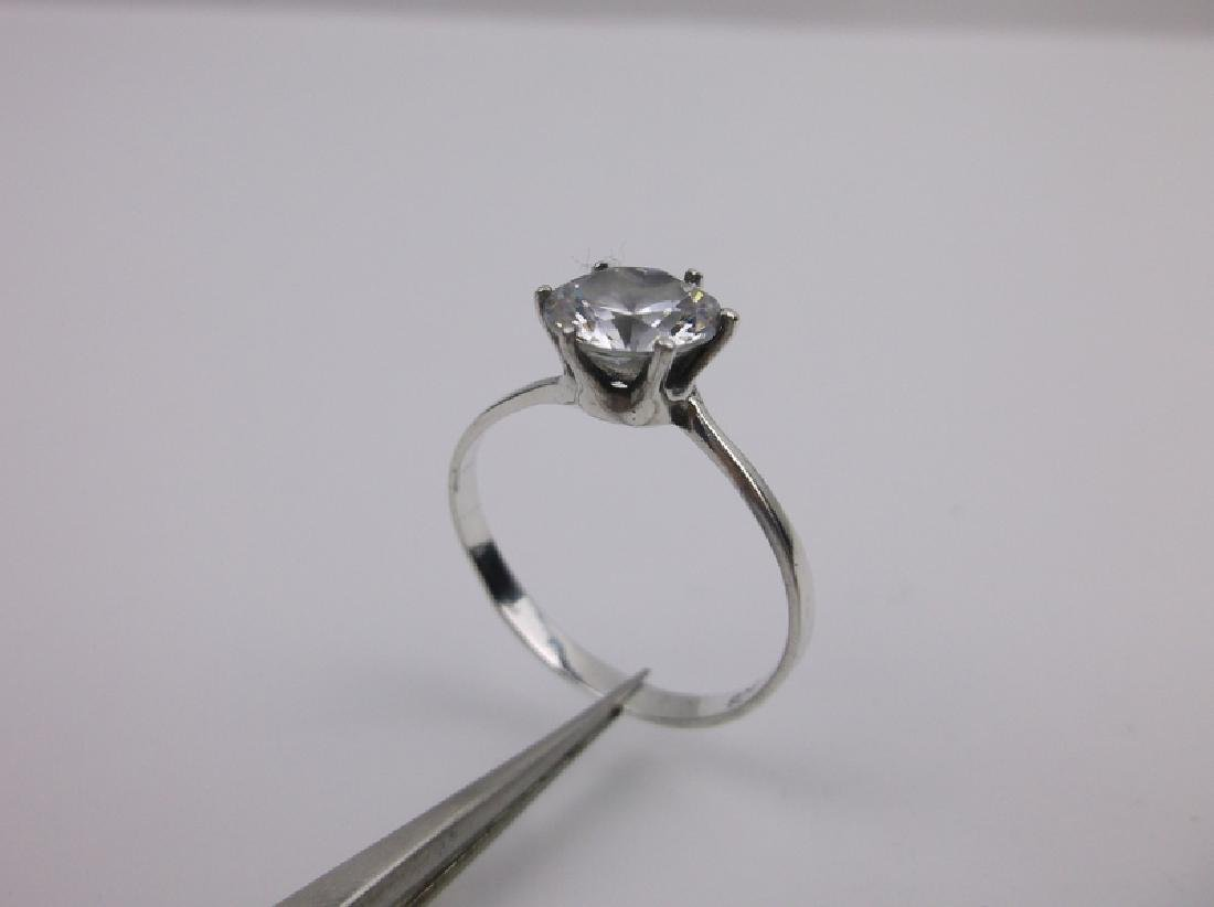 Stunning Sterling Silver Engagement Ring 9.5