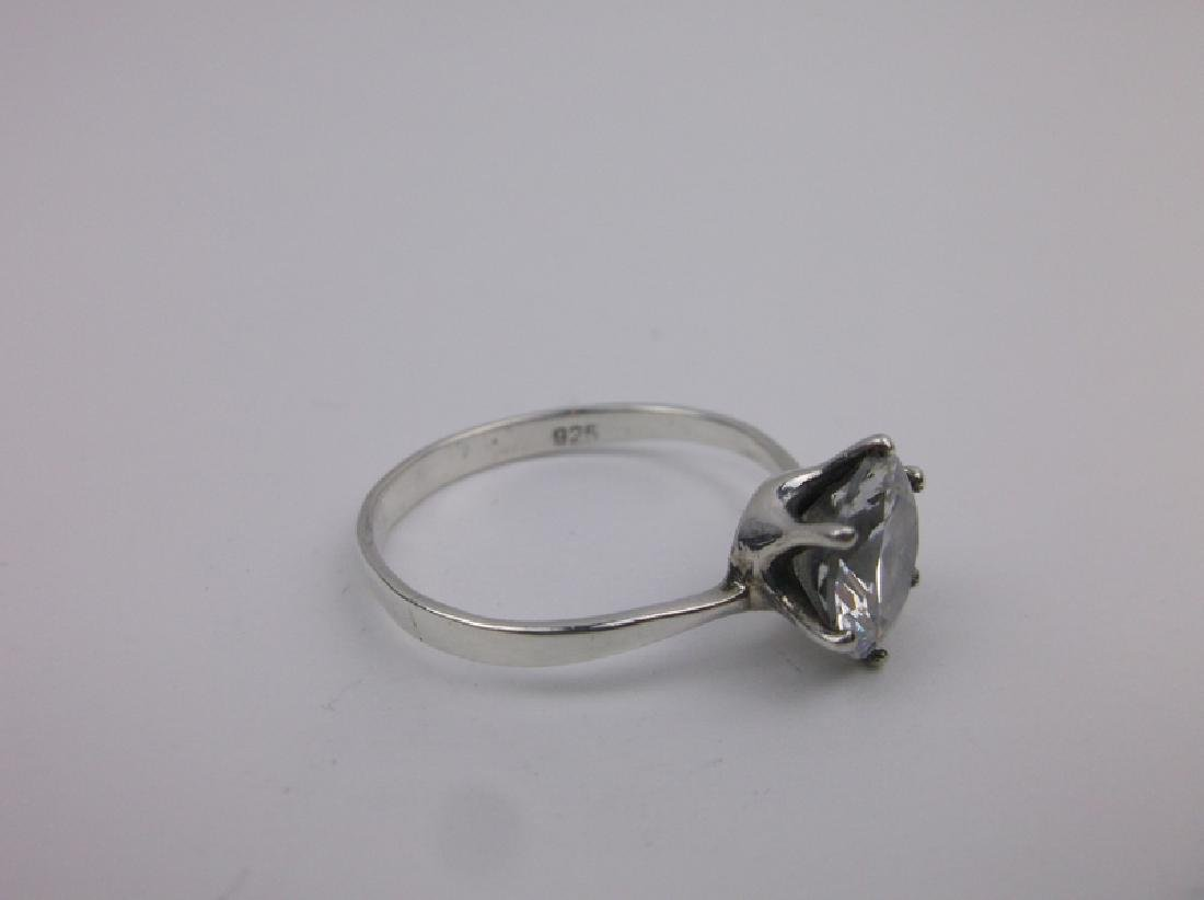 Stunning Sterling Silver Engagement Ring 9.5 - 2