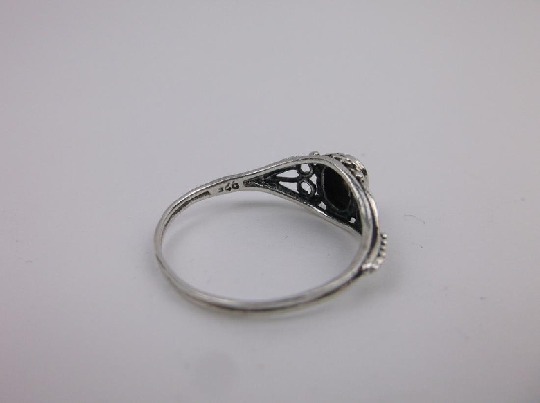 Stunning Sterling Silver MOP Ring 8 - 2