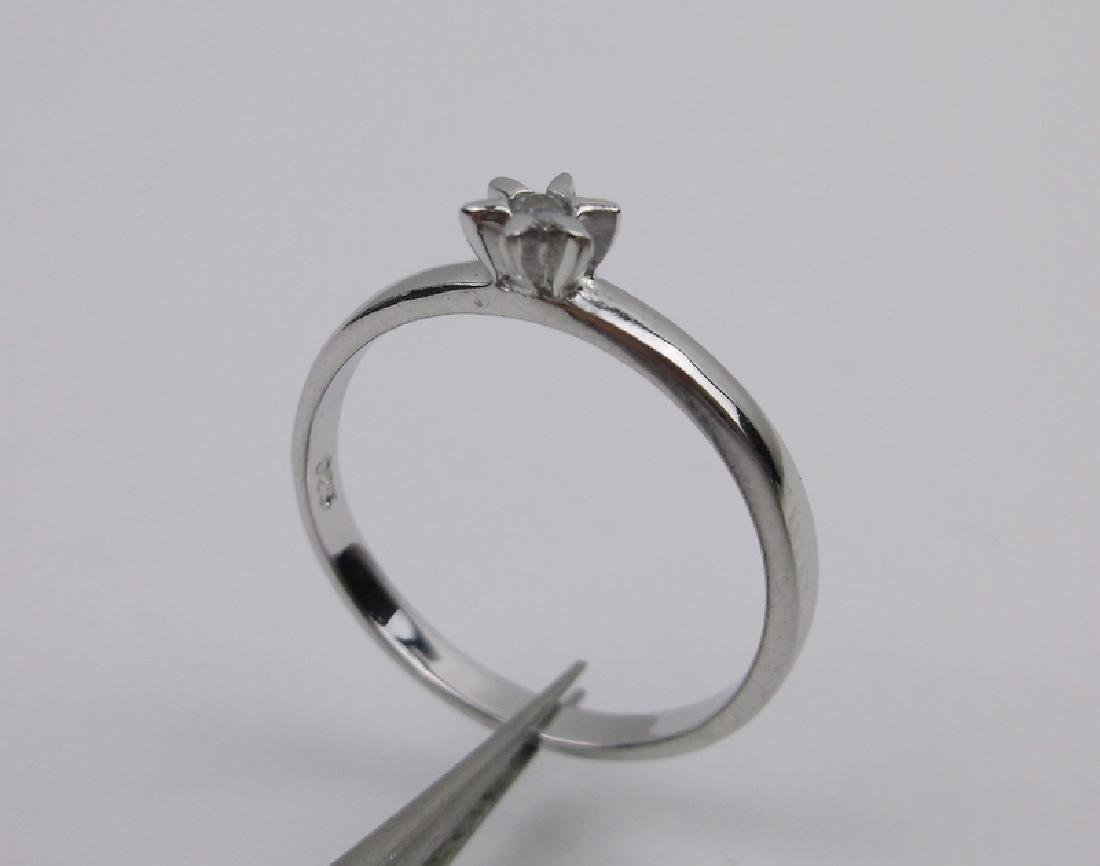 Stunning Sterling Silver Engagement Ring 7