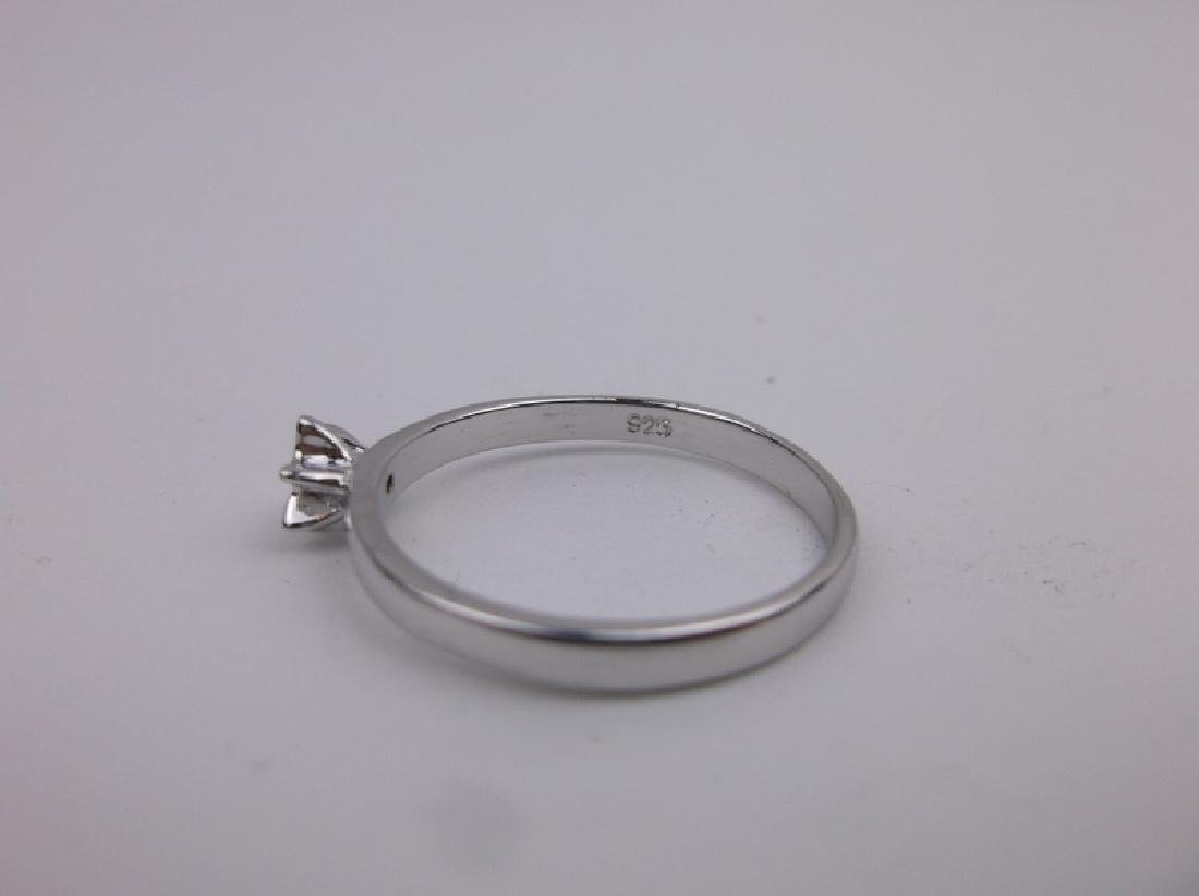 Stunning Sterling Silver Engagement Ring 7 - 2