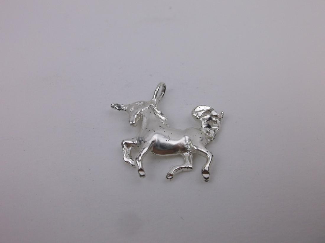 Gorgeous Sterling Silver Unicorn Pendant