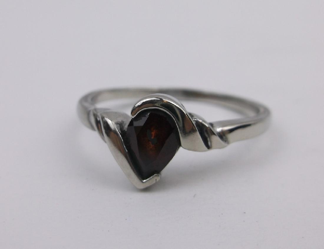 Gorgeous Sterling Silver Garnet Ring 9