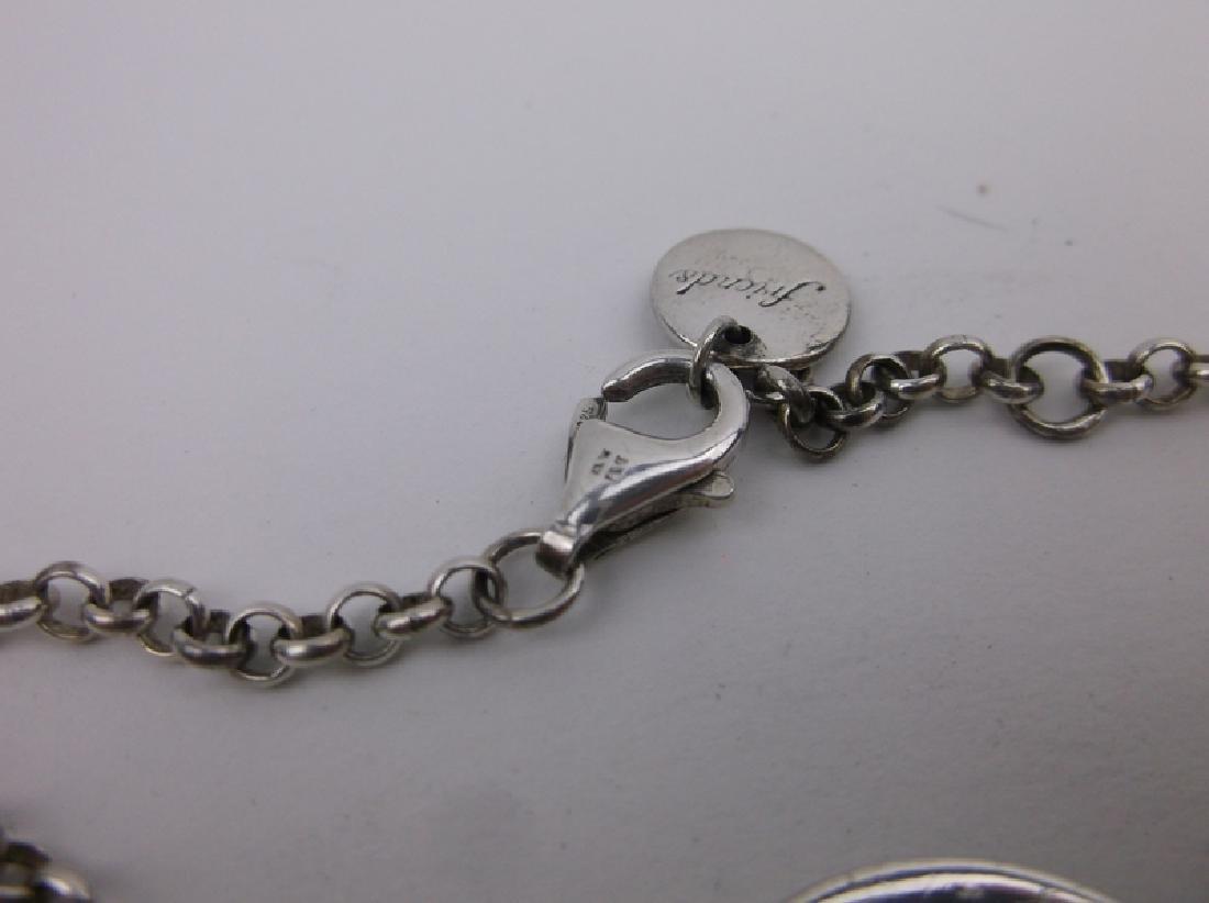 "Stunning Sterling Silver Chain Bracelet 8"" - 2"