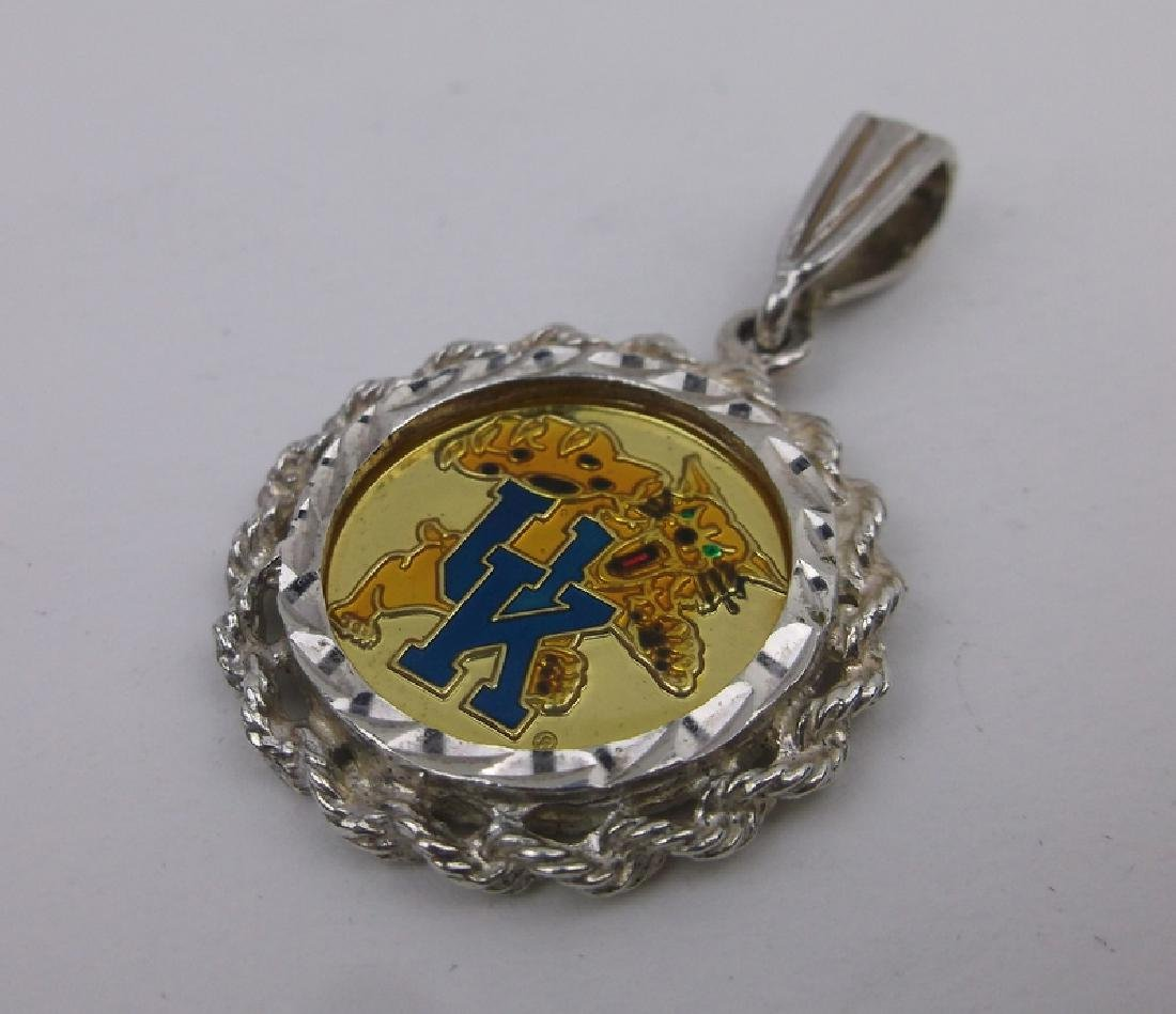Stunning Sterling UK Wildcats Coin Pendant