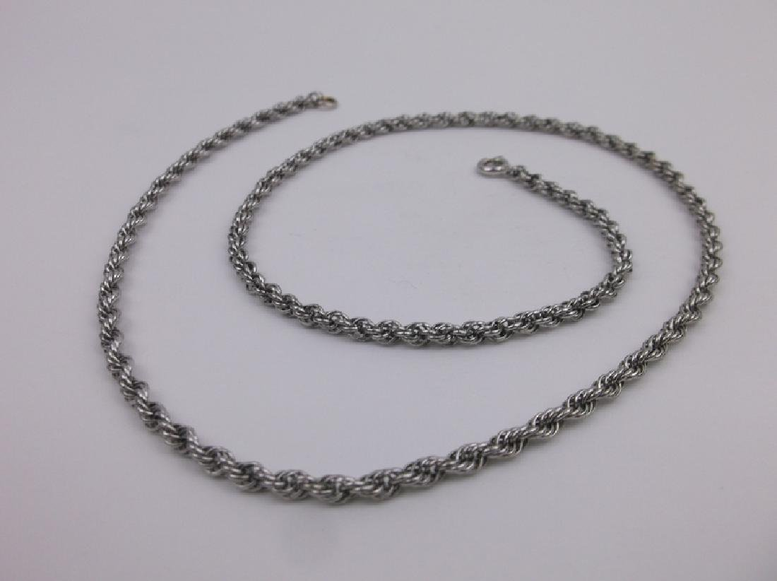 Stunning Sterling Silver Rop Chain Necklace 18""