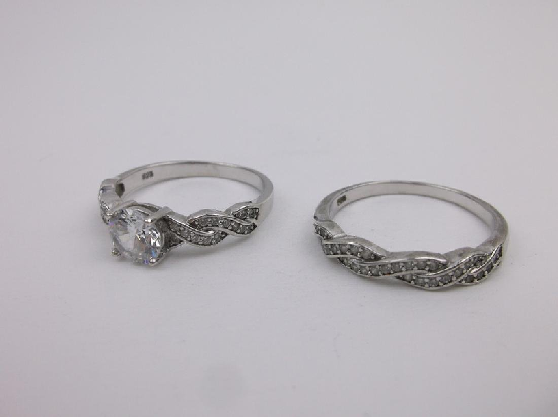 Stunning Sterling Engagement Ring Set 10.5 - 2