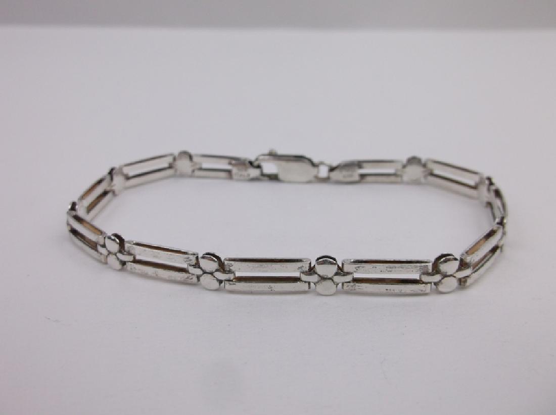 """Gorgeous Sterling Silver Italian Bracelet 7.5"""""""