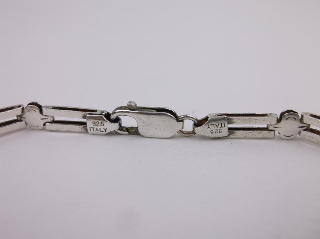 """Gorgeous Sterling Silver Italian Bracelet 7.5"""" - 2"""