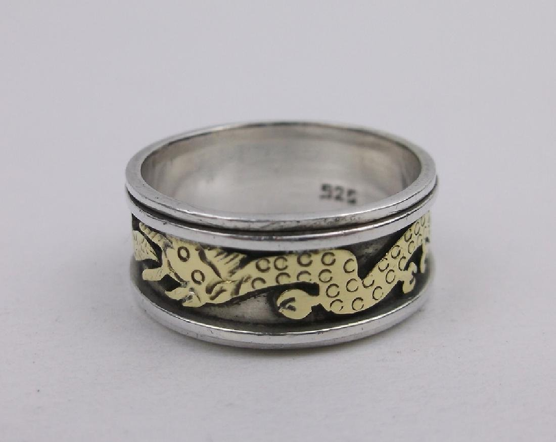 Stunning Sterling Chinese Dragon Band Ring 7