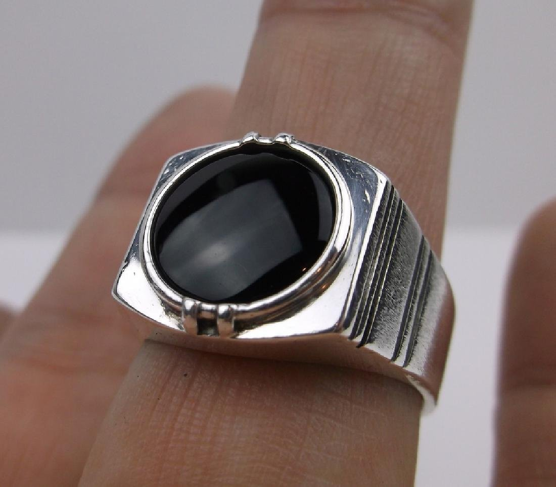 Gorg Vintage Sterling Onyx Mens Ring 10