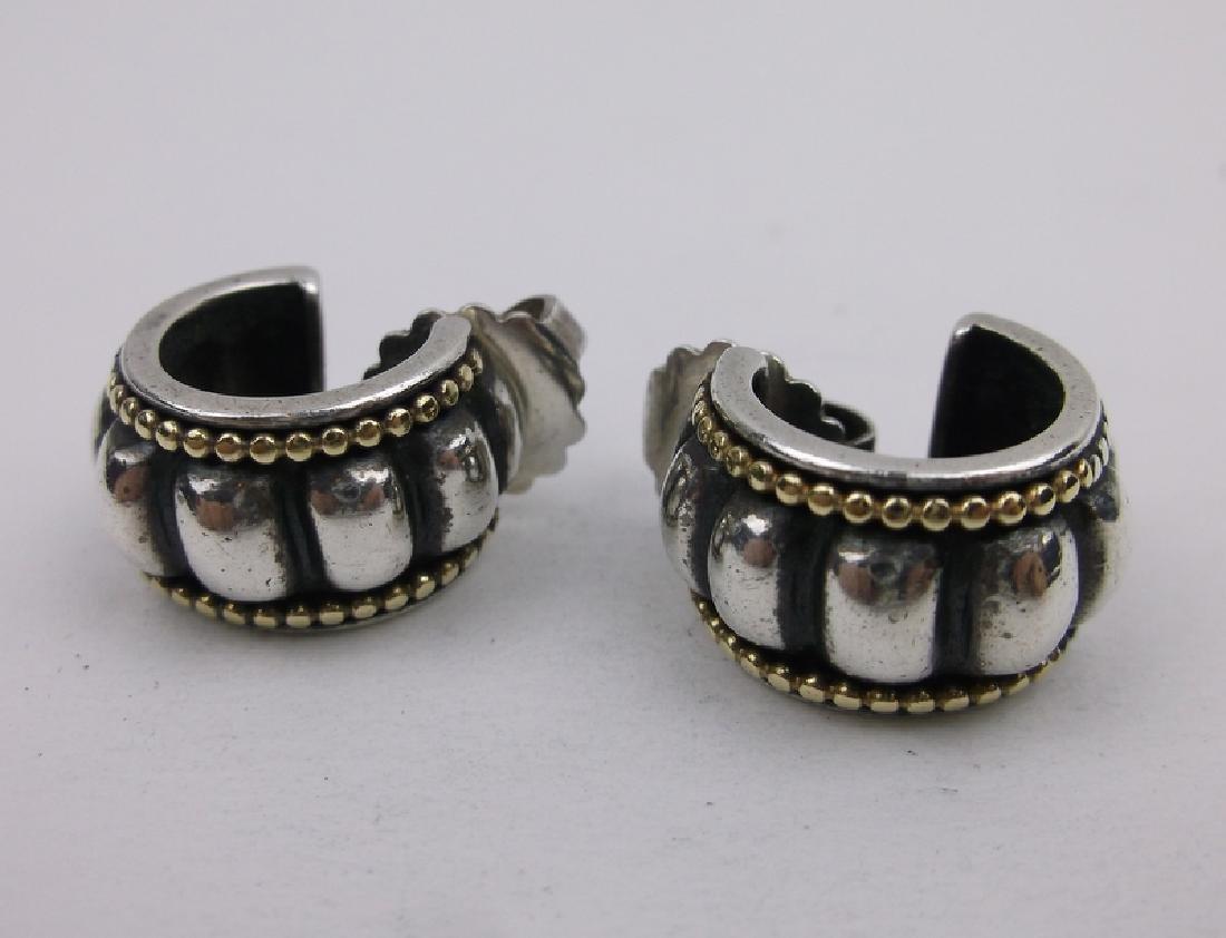 Stunn Heavy Sterling Silver Caviar Earrings