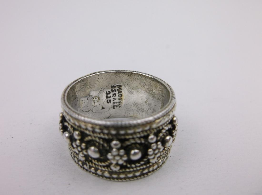Gorg Sterling Silver Israel Band Ring 7 Vint - 2