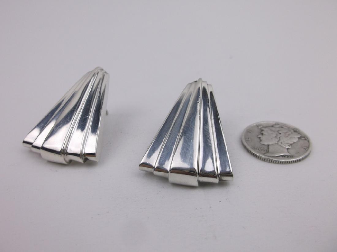 Mortell Antique Art Deco Sterling Earrings