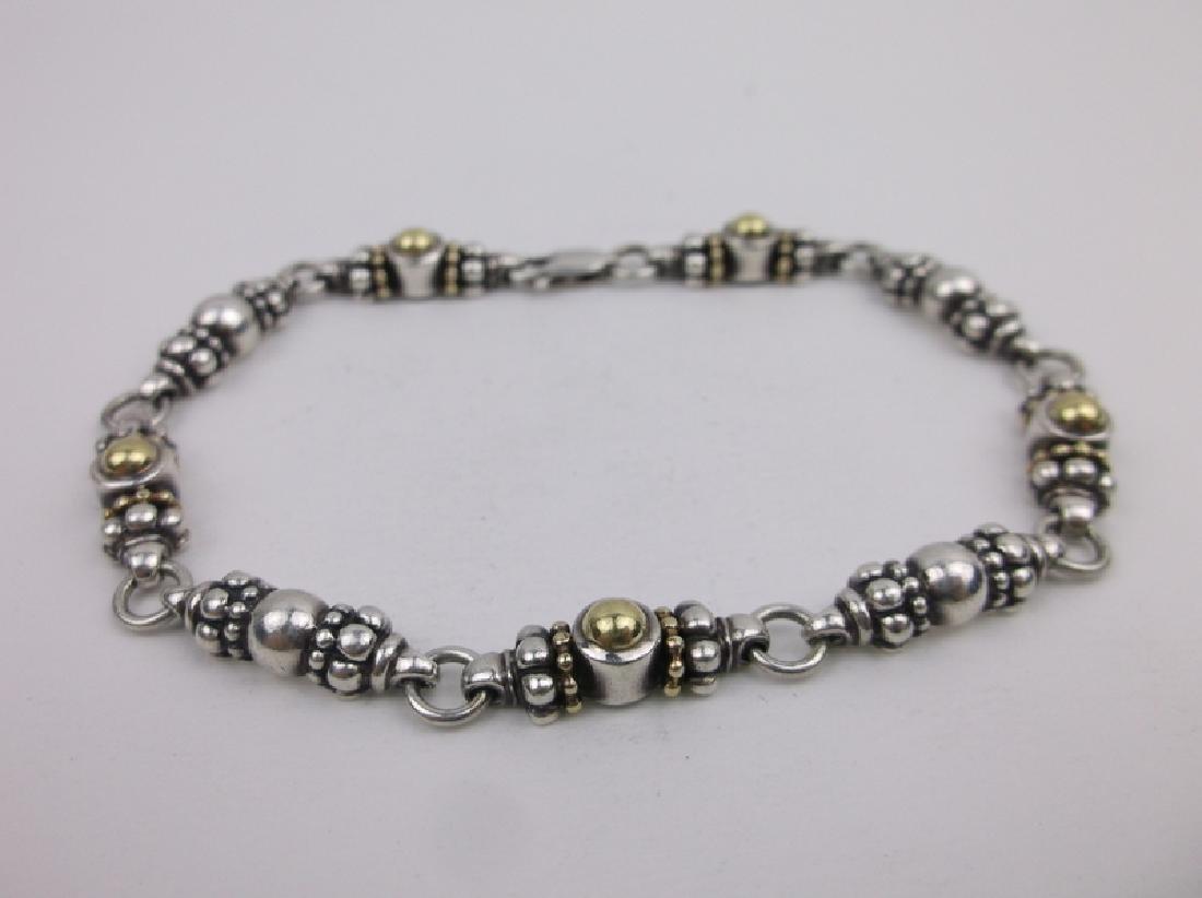 "Stunn Heavy Sterling Silver Caviar Bracelet 7.5"""