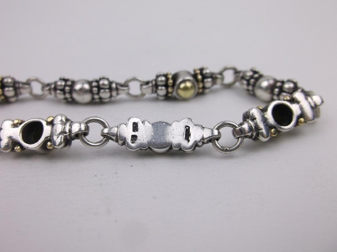 "Stunn Heavy Sterling Silver Caviar Bracelet 7.5"" - 2"