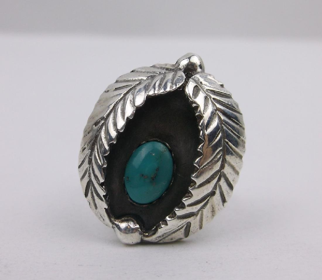 Gorg Navajo Sterling Silver Turquoise Ring 4.25