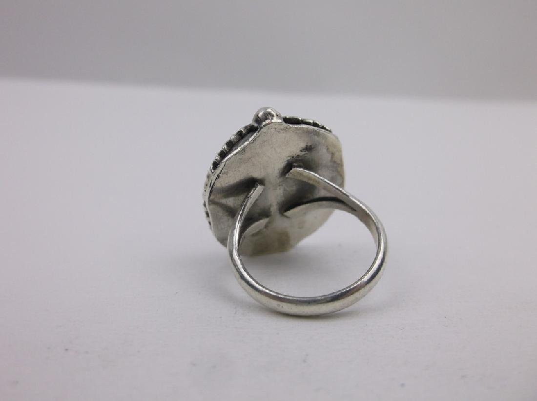 Gorg Navajo Sterling Silver Turquoise Ring 4.25 - 2