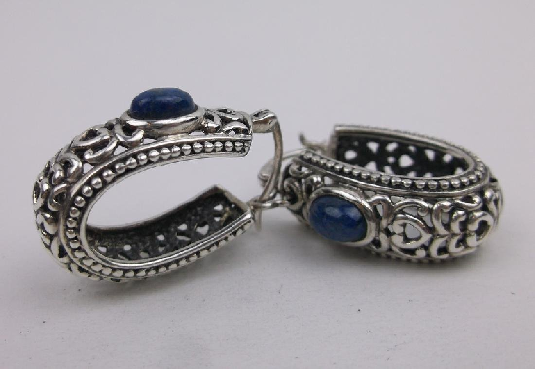 Stunning Large Sterling Silver Lapis Earrings