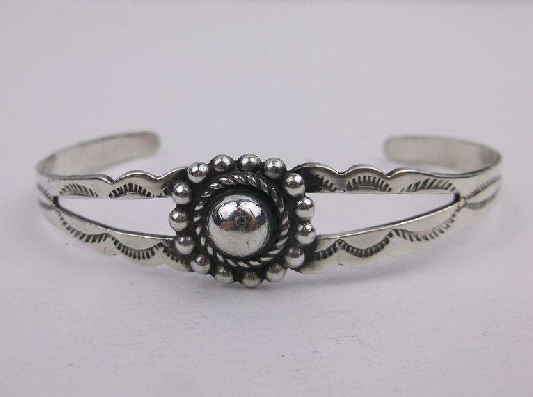 Gorgeous 1940s Navajo Sterling Cuff Bracelet