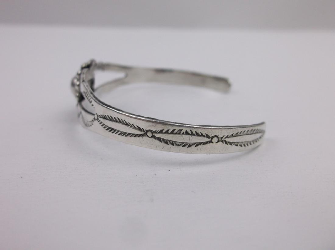Gorgeous 1940s Navajo Sterling Cuff Bracelet - 2