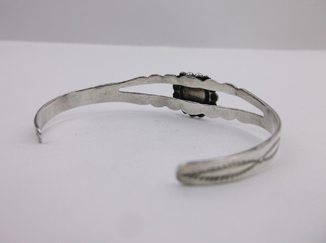 Gorgeous 1940s Navajo Sterling Cuff Bracelet - 3