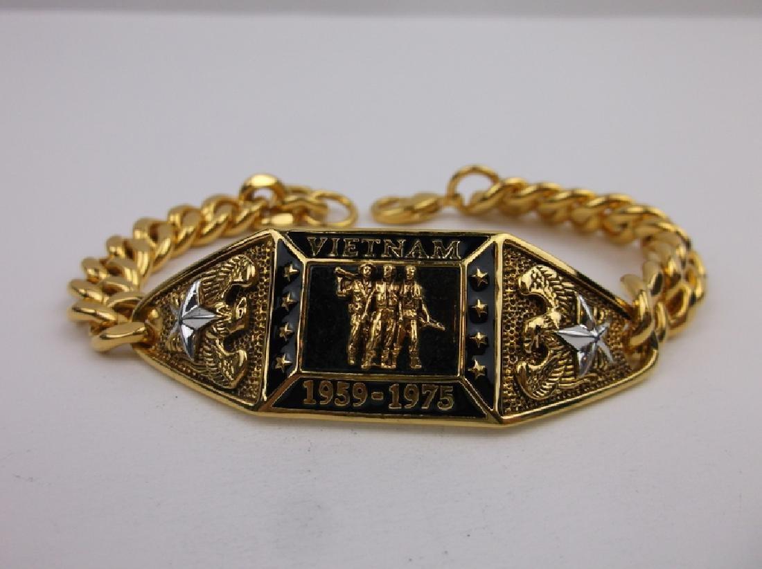 """Vietnam Gold Over Sterling Huge Bracelet 7.5"""" Stunning"""