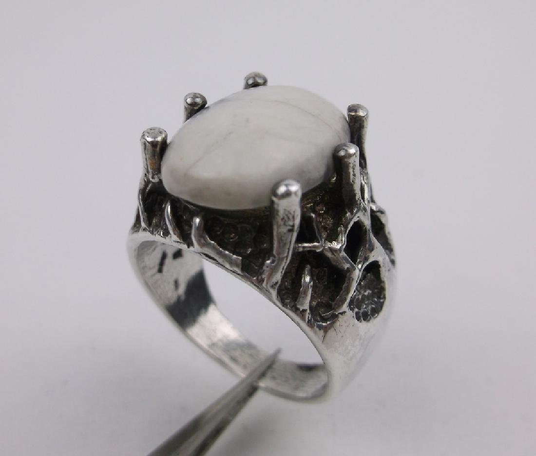 Navajo Sterling Buffalo Bone Ring 10 HD Huge