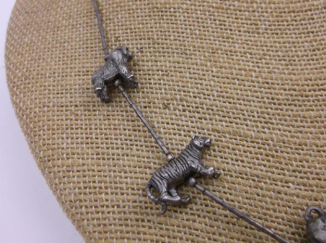 "Vint Zuni Sterling Animal Fetish Necklace 18"" - 2"