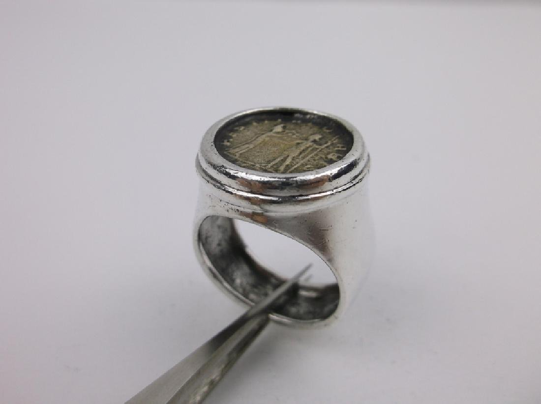 Huge Silpada Sterling Silver Ancient Coin Ring 9 - 2