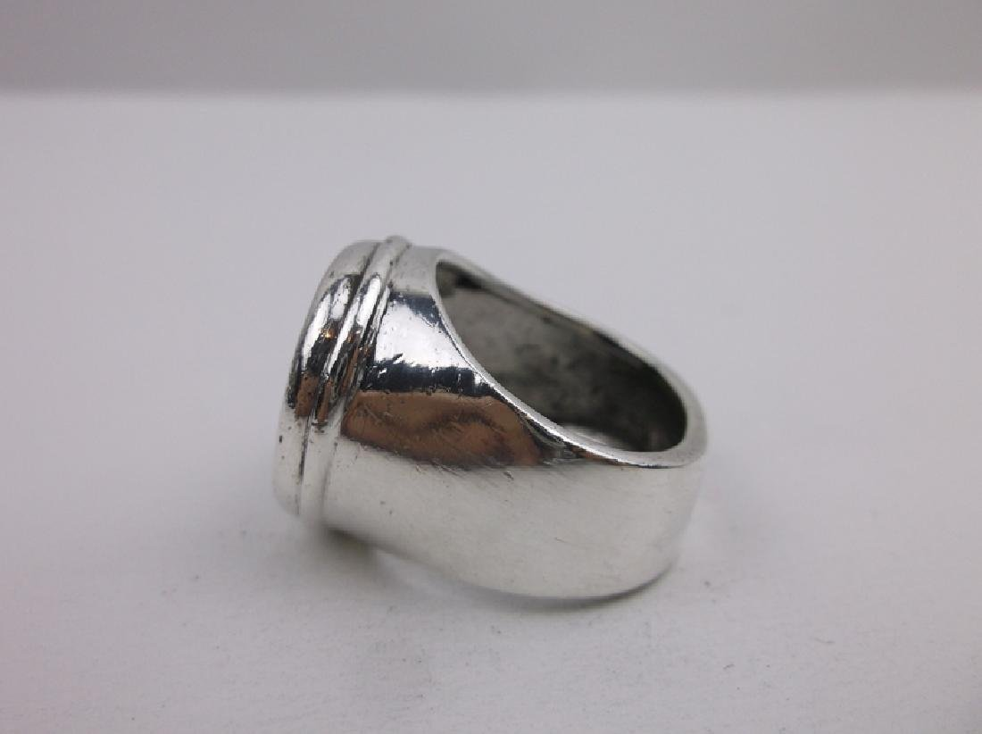 Huge Silpada Sterling Silver Ancient Coin Ring 9 - 3
