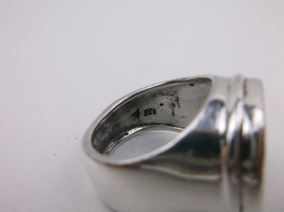Huge Silpada Sterling Silver Ancient Coin Ring 9 - 4