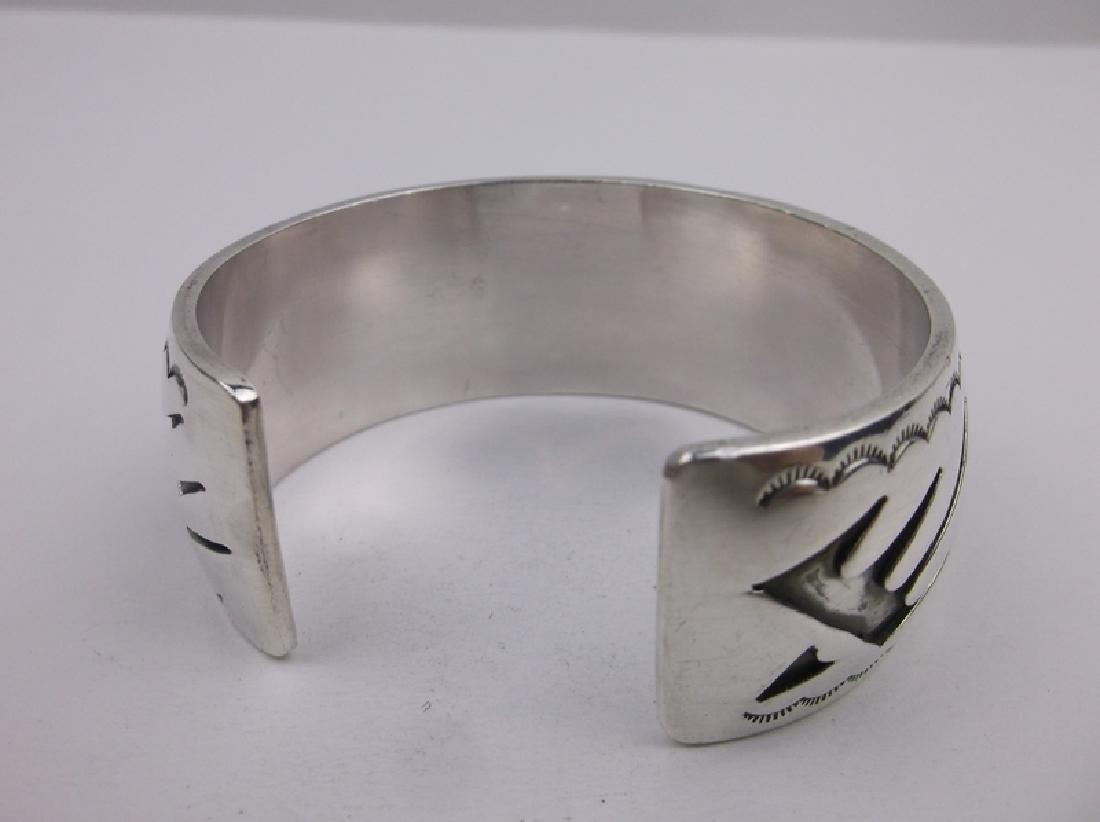 Sup Heavy Hopi Sterling Cuff Bracelet Stunning - 3