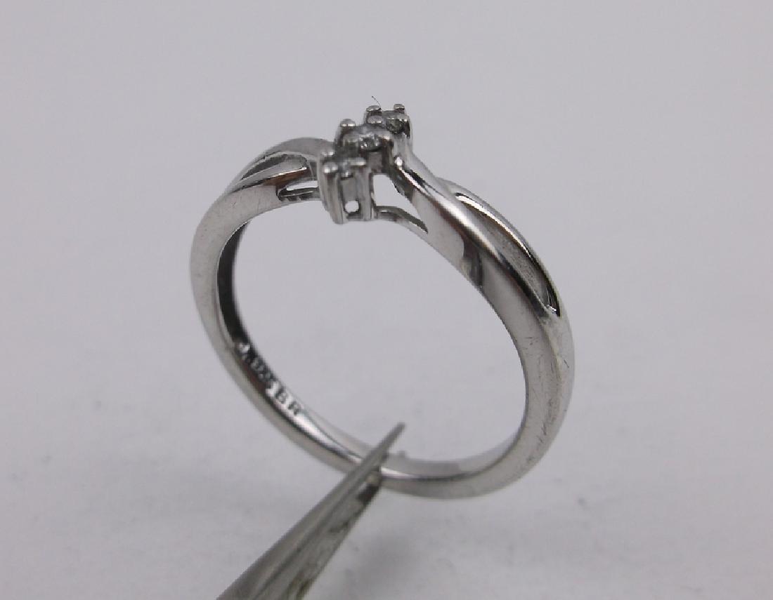 Sterling Silver 3 Genuine Diamond Ring 7