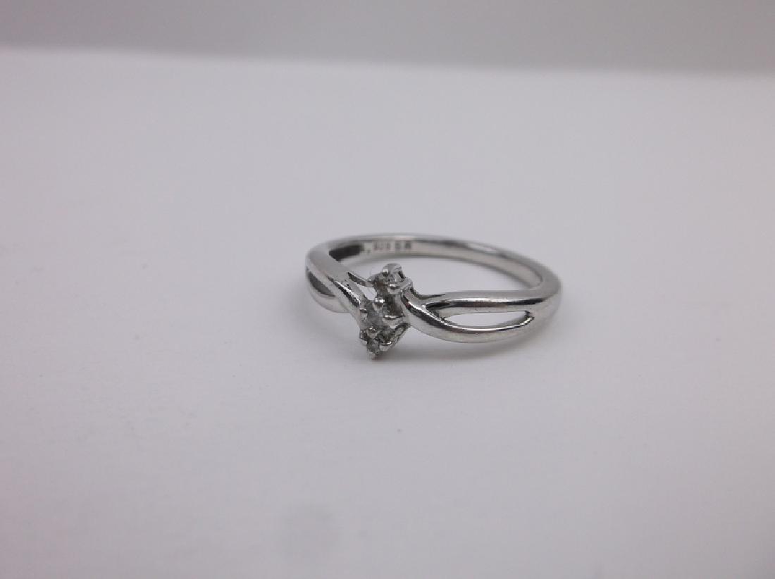 Sterling Silver 3 Genuine Diamond Ring 7 - 2