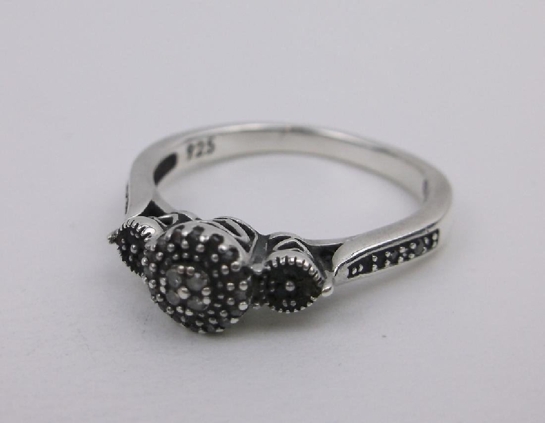 Sterling Genuine Diamond Engagement Ring 6.5