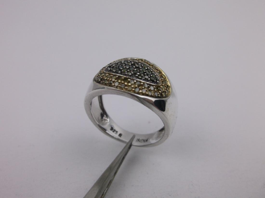 Sterling Silver Genuine Diamond Ring 6 - 2