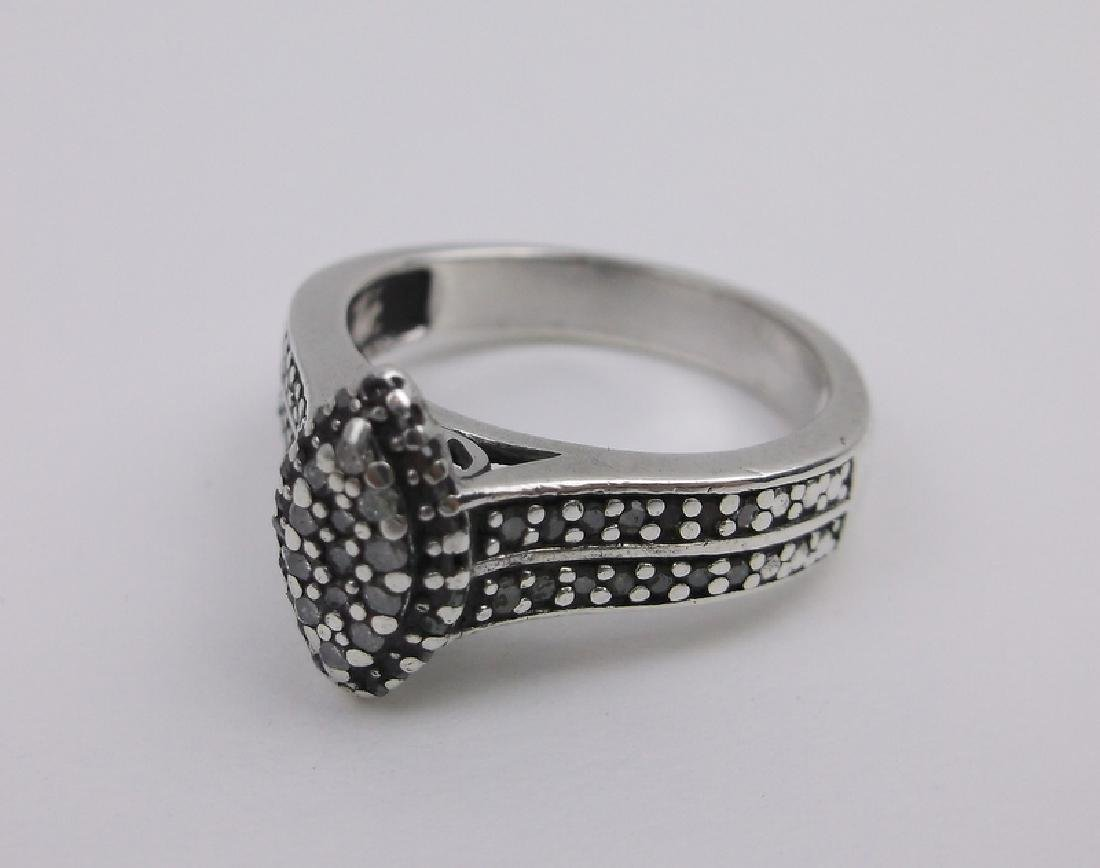 Sterling Genuine Diamond Engagement Ring 7