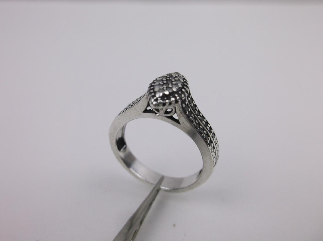 Sterling Genuine Diamond Engagement Ring 7 - 2