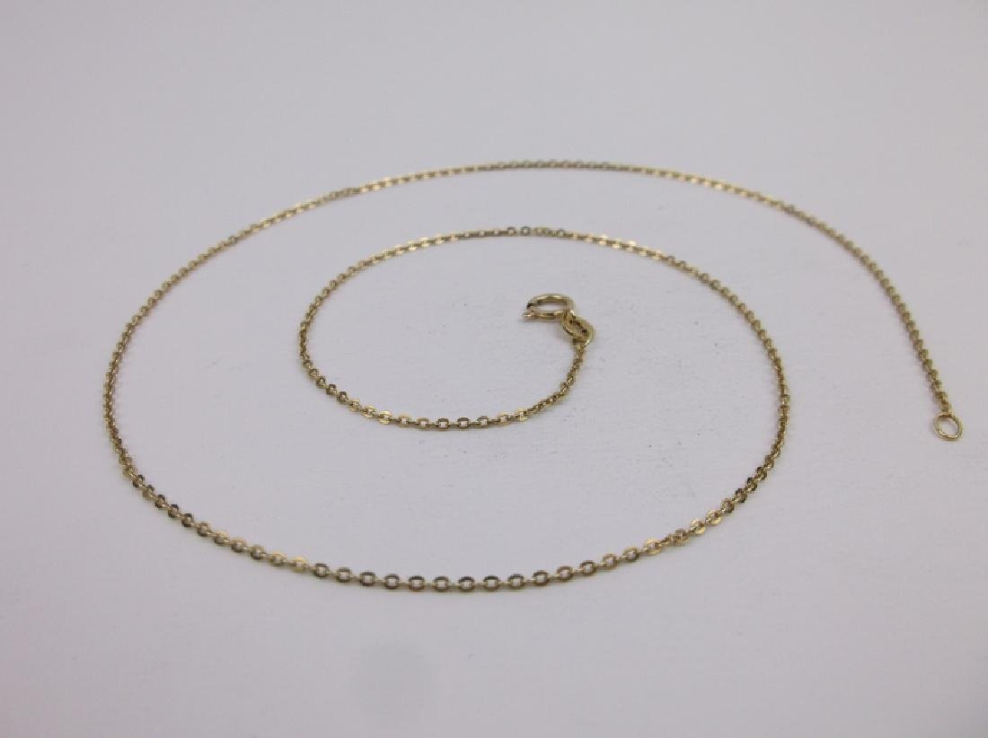 """Stunning 14kt Gold Chain Necklace 18"""""""