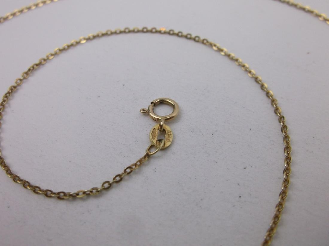 """Stunning 14kt Gold Chain Necklace 18"""" - 2"""