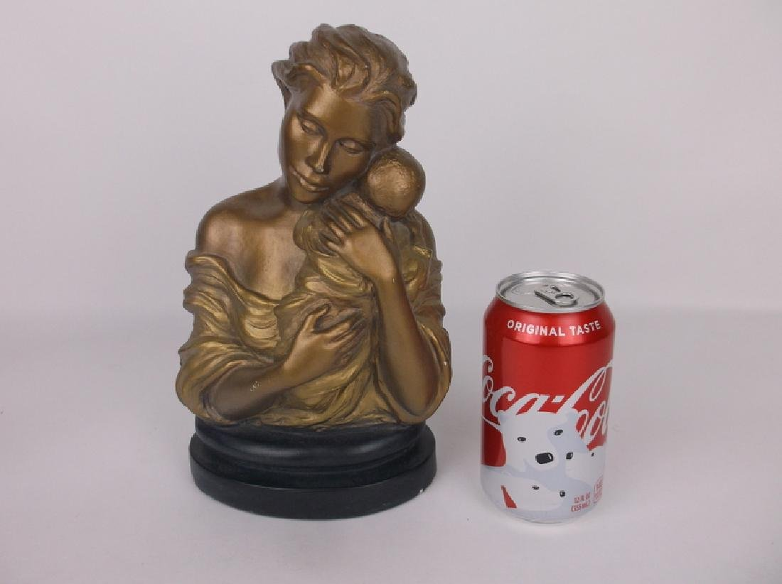 Mother and Child Statue Signed - 2