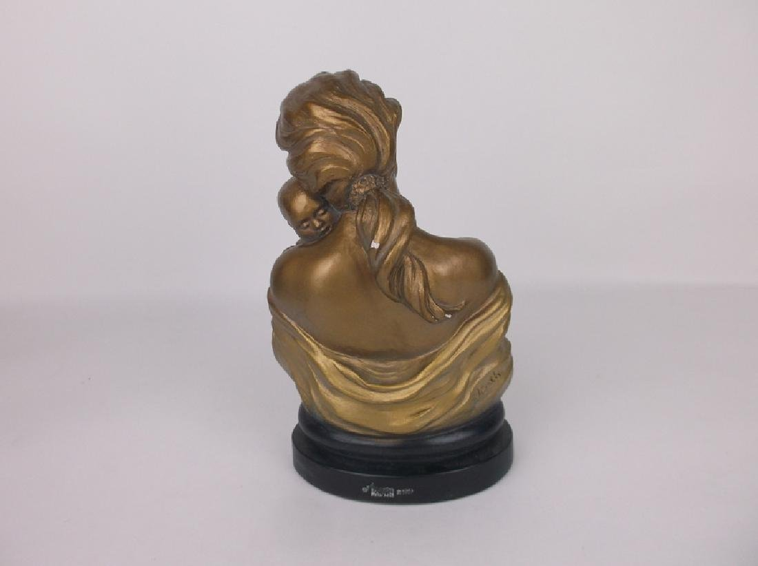Mother and Child Statue Signed - 3