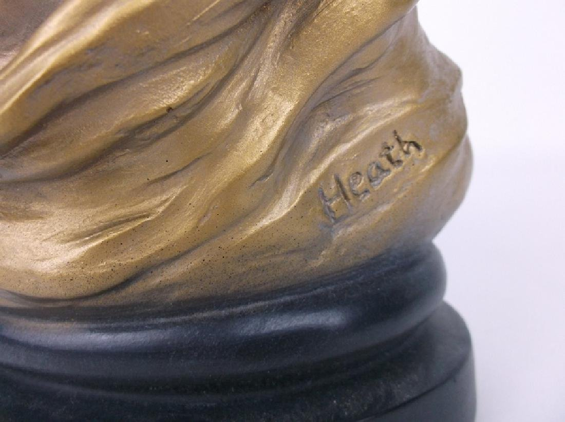 Mother and Child Statue Signed - 4