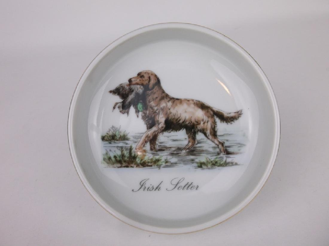 Gorgeous Antique Irish Setter Dish