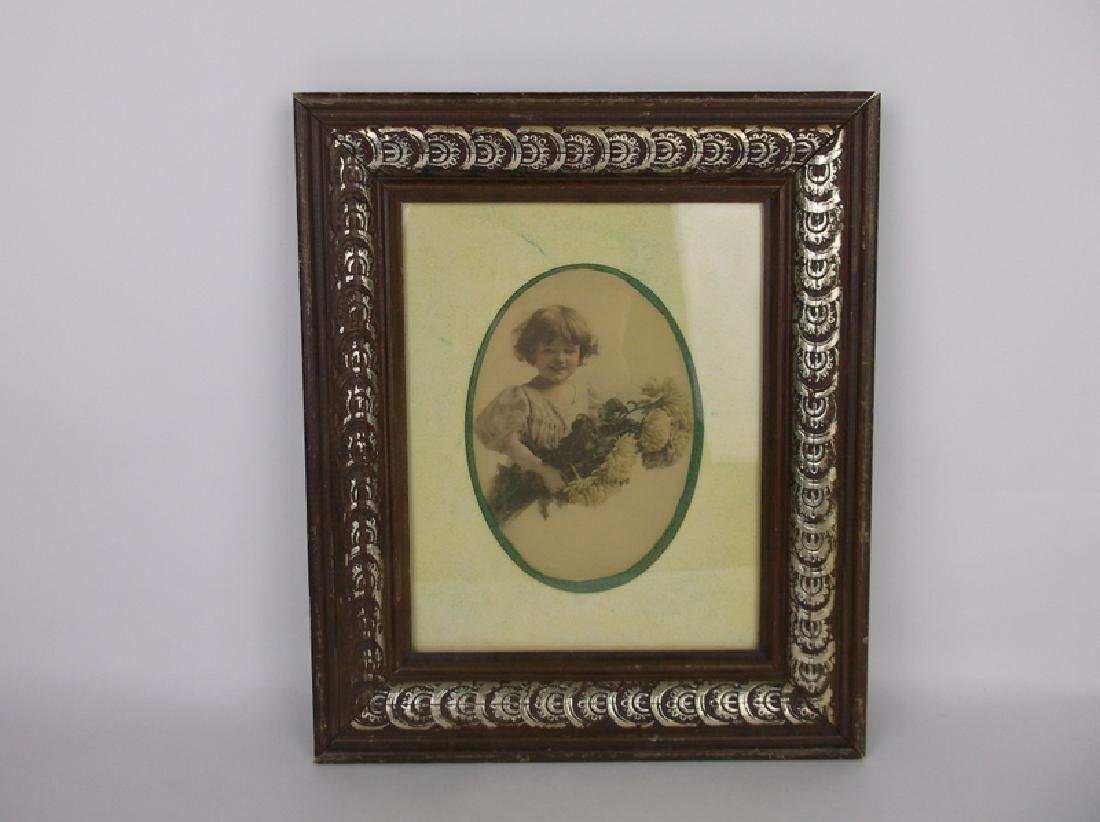 Beautiful Antique Picture Frame With Girl