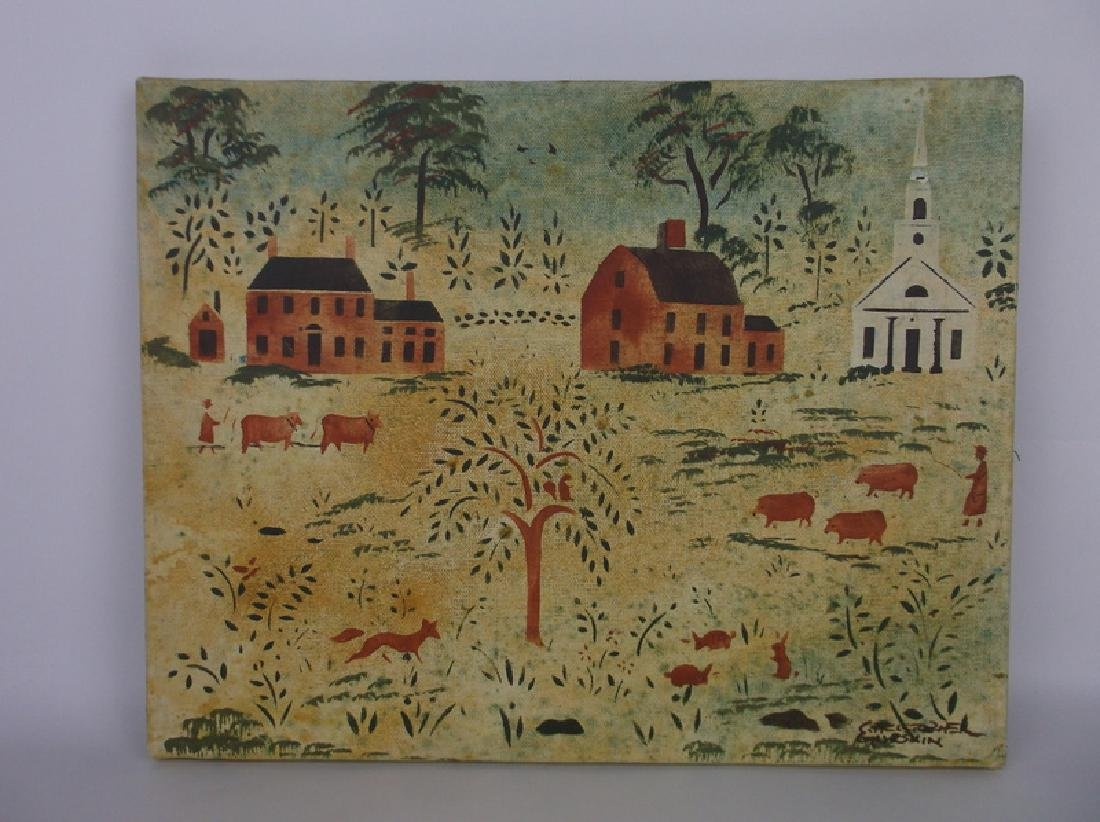 Original Christopher Gurshin Folk Art Painting