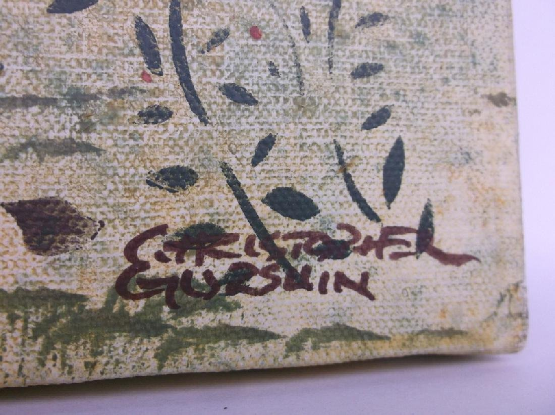 Original Christopher Gurshin Folk Art Painting - 4