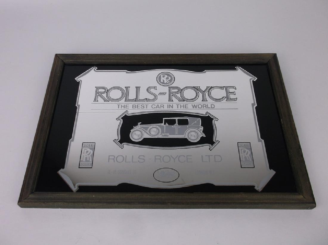 Rolls Royce Mirrored Plaque 13 x 9 Inch
